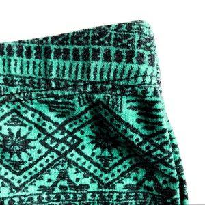 Skirts - Aztec Print Midi High Waisted Skirt